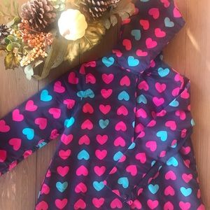 Gymboree Heart Raincoat Size L (10-12)
